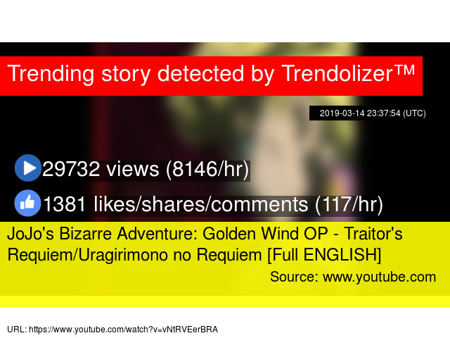 JoJo's Bizarre Adventure: Golden Wind OP - Traitor's Requiem