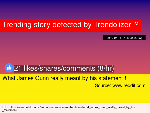 What James Gunn really meant by his statement !