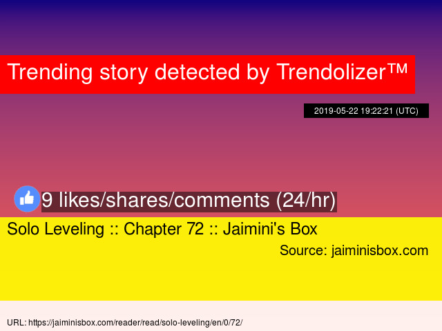 Solo Leveling :: Chapter 72 :: Jaimini's Box