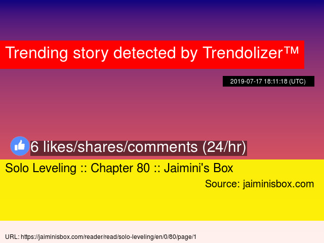 Solo Leveling :: Chapter 80 :: Jaimini's Box