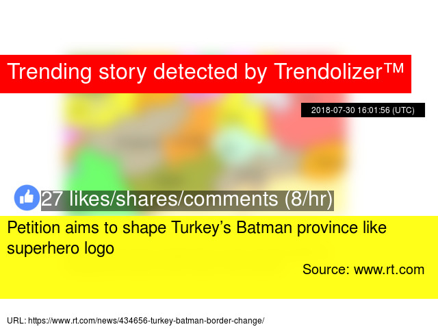 7e9c22fabd Petition aims to shape Turkey s Batman province like superhero logo - Stats